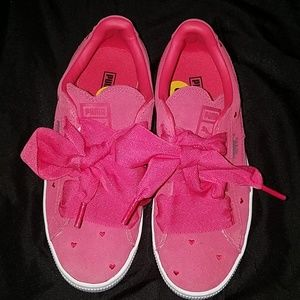 Pink puma sneakers brand new